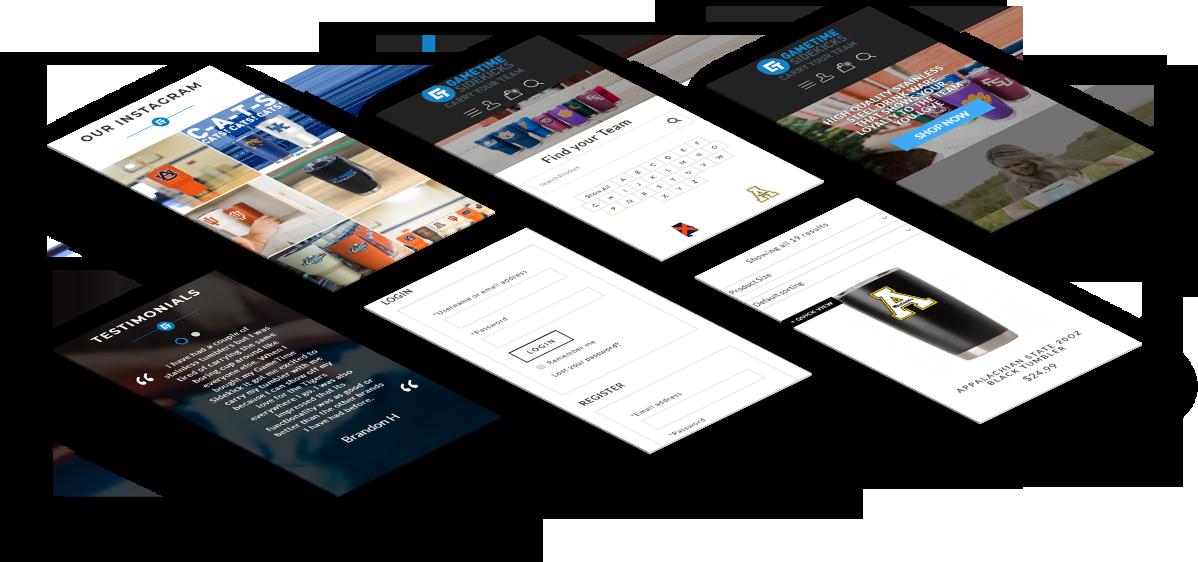 AgentOptix Gametime Sidekicks Web Design Mobile Mockup